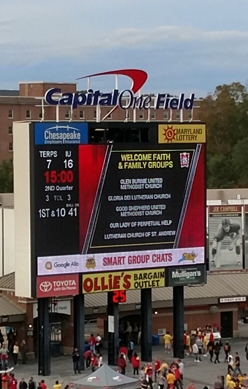 St  Andrew Represents at Terps Faith & Football Homecoming